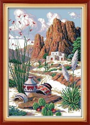 Joy Sunday Cross Stitch kits, The Silk Road ,11CT Printed, 43cm60 or 16.77