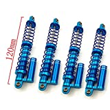 4 Pcs Aluminum Shock Absorbers Set for 1/10 RC SCX10 D90 TF2 Crawler Car (120MM)