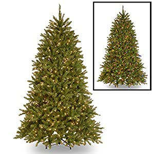National Tree Company 4-1/2-Feet Dunhill Fir Tree with 450 Clear Lights 11