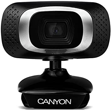 Canyon CNE-CWC3 Webcam, USB 2.0, Schwarz/Silber: Amazon.de: Computer ...