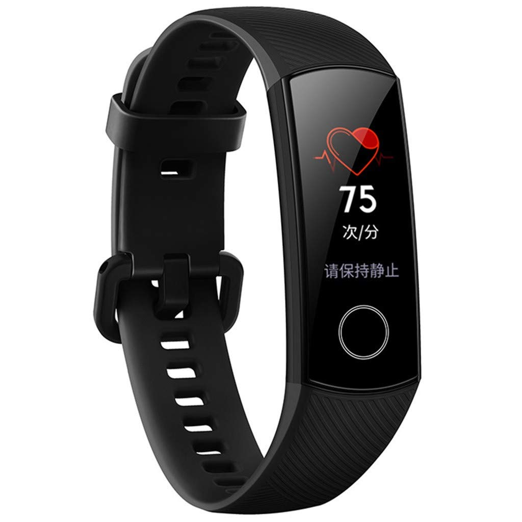 Huawei Honor Band 4 - Smart Wristband Amoled Color 0.95'' Touchscreen Swim Posture Detect Heart Rate Sleep Snap (Black)