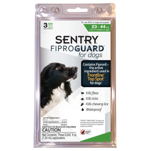 Fiproguard Fiproguard Topical Flea and Tick for Dogs, 23 to 44-Pound, My Pet Supplies