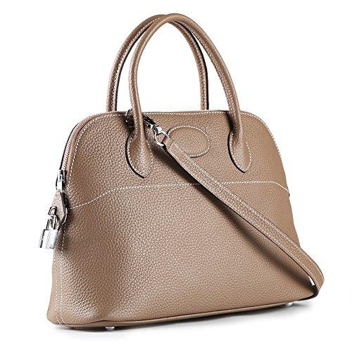 Top Hobo Taupe Handle Bag Bag Shell Shoulder Handbag Ainifeel Women's Padlock twqCAB