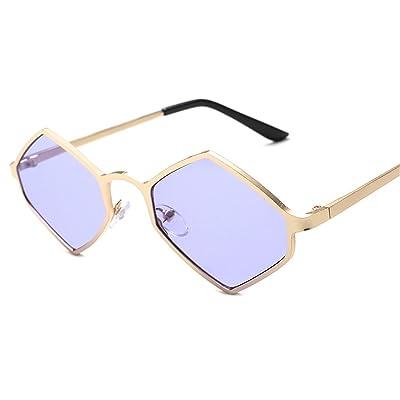 HONG@Les lunettes de soleil Lunettes de soleil de la personnalité du film océan polygone,F