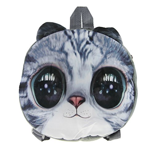 Toddler Kids Child Cute Cartoon Cat Animal Nursery Kindergarten Preschool Backpack Emoji Snack Toys Books Zoo Park Shoulder Bag Outdoor Carrier Daypack Travel Storage Organizer Zipper Rucksack Satchel