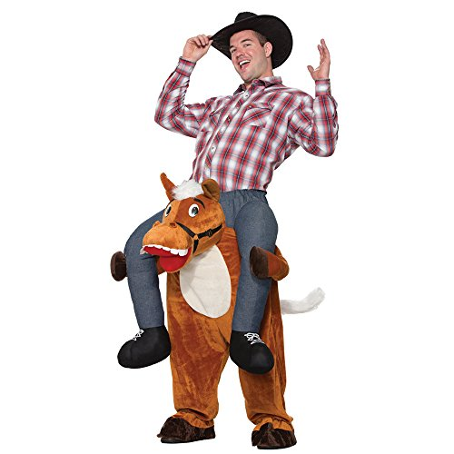 Forum Men's Horse Back Ride-on Deluxe Costume, Brown, STD