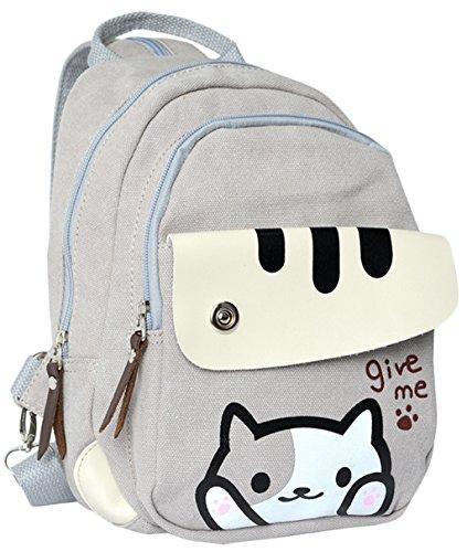Teenagers-Game-Neko-Atsume-Backpack-Anime-Backyard-Cat-Knapsack-Chest-Bag