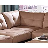 Coaster Claude Causal Latte Two Tone Sectional Corner Sofa