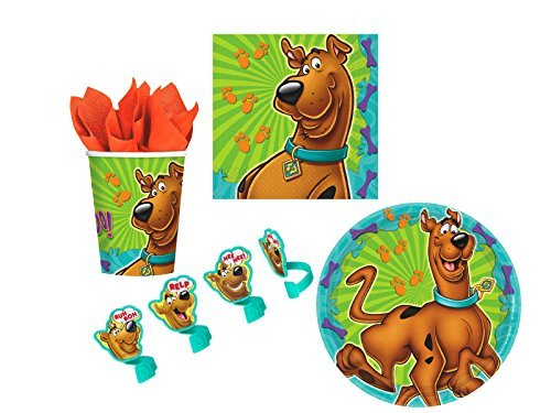 Scooby Doo Cupcake Ring Decoration and Party Supply Pack for 16
