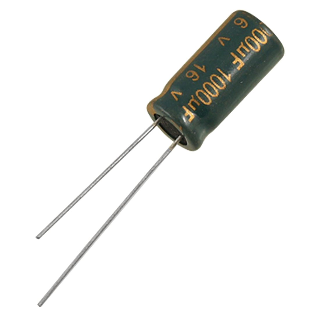 SODIAL R Condensador electrolitico 10 piezas condensadores electroliticos de aluminio de plomo polarizado de 1000uF 16V