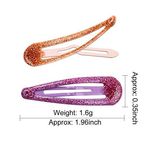 Girls Snap Hair Clips Non-Slip Metal Hair Barrettes Glitter Hair Pins Hair Accessories for Kids 30 Pcs