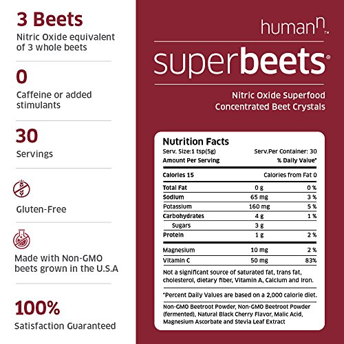 SuperBeets Black Cherry with Heart Greens Nitric Oxide Booster Beet Root Juice Powder Nitrate Building Green Superfood 5.3 Ounce Canisters