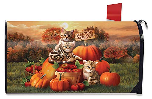 Briarwood Lane Happy Halloween Bats Magnetic Mailbox Cover Candy Corn Humor Standard