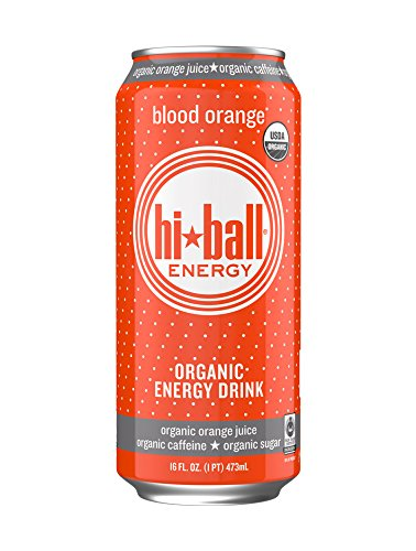 Hi-Ball Blood Orange Organic Energy Drink, 16 oz
