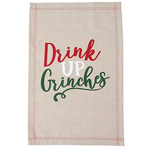 Mud Pie Drink up Grinches Towel