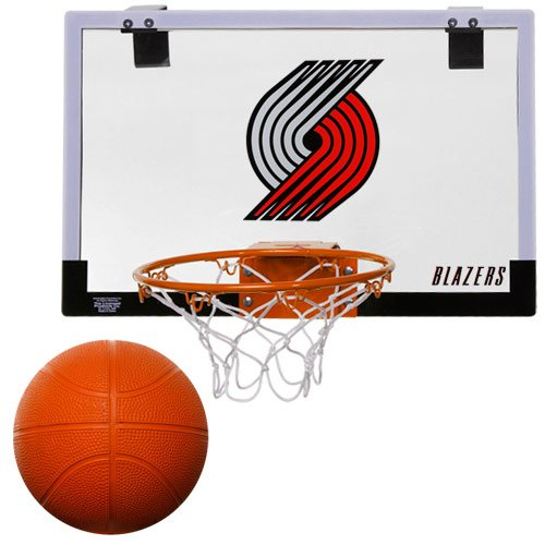 NBA Portland Trailblazers Game On Indoor Basketball Hoop & Ball Set