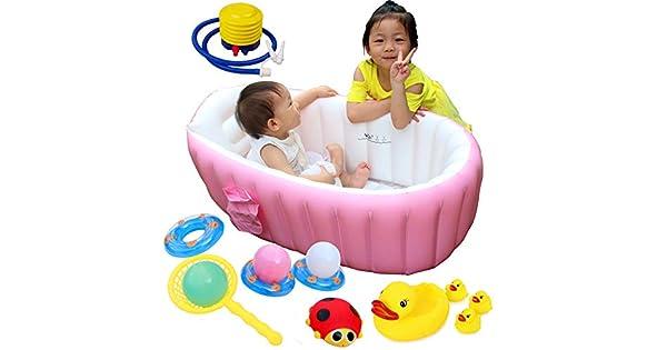 Amazon.com: Bañera hinchable para bebé, lavabo de baño de ...