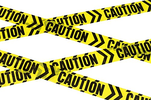 Unisex Adult Halloween Fancy Party Decoration Caution Chevron Tape Pack Of 3]()