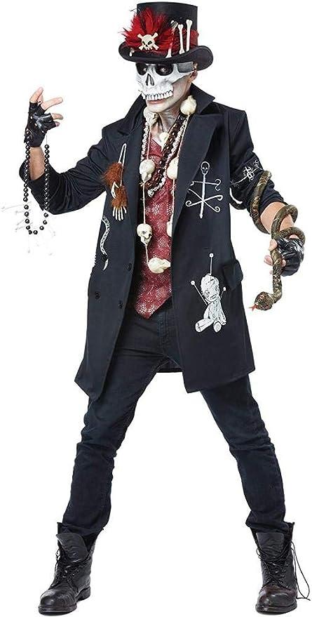 RAXYQ Disfraz De Vudú Dude Man Halloween Disfraz,Black-Men:40/42 ...