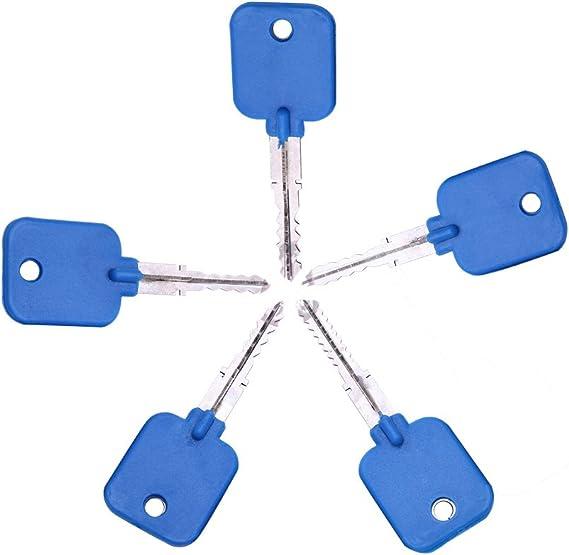 5 llaves de ganzúas de bloqueo cruzado, llave maestra para bloqueo ...