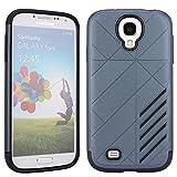 Samsung Galaxy S4 I9500 Case,Vandot Fashion Ultra Slim Thin Dual Layer Armor Protective Case Soft TPU Silicone Bumper+Hard PC Back Hybrid Case Cover Shock Absorbent Anti-scrtach Pattern -Grey