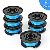 SUERW Line String Trimmer Replacement Spool for Ryobi, [6-Pack] 0.065'' Autofeed Replacement Spools for Ryobi 18V, 24V, and 40V Cordless Trimmers [6 Replacement Line Spools]