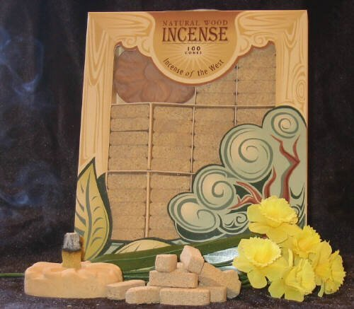 Mesquite Wood Incense - 100 Bricks Plus Burner - Incienso De Santa Fe