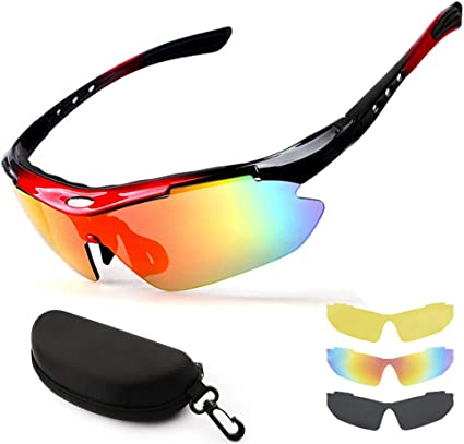Polarized Bike Cycling Glasses Riding Goggles Casual Sunglasses UV400 Black USA