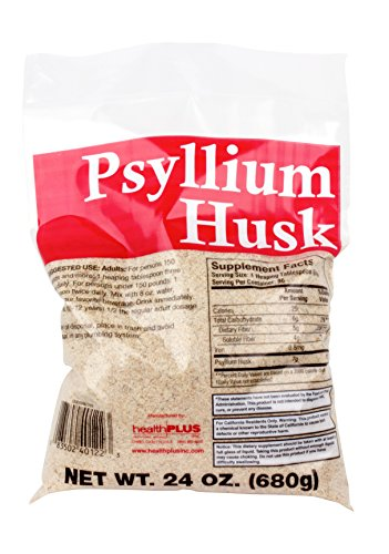 Health Plus 100% Pure Psyllium Husk Bags, 24 Ounce by Health Plus