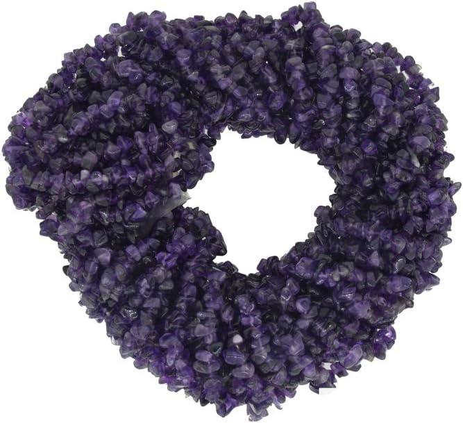 ShreeCrystalsBeads - Cuentas de piedras preciosas de amatista natural para hacer joyas con forma libre, chips de amatista, 10 hebras cada una de 34 pulgadas de longitud