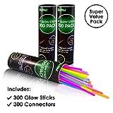 300 Glow Sticks Bulk Party Supplies - Glow in The