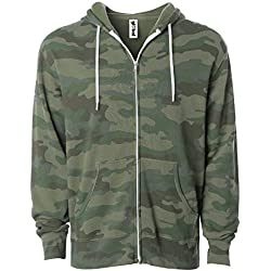 Global Slim Fit Lightweight Zip Up Hoodie for Men and Women Hooded Sweatshirt (XX-Large, Camouflage)