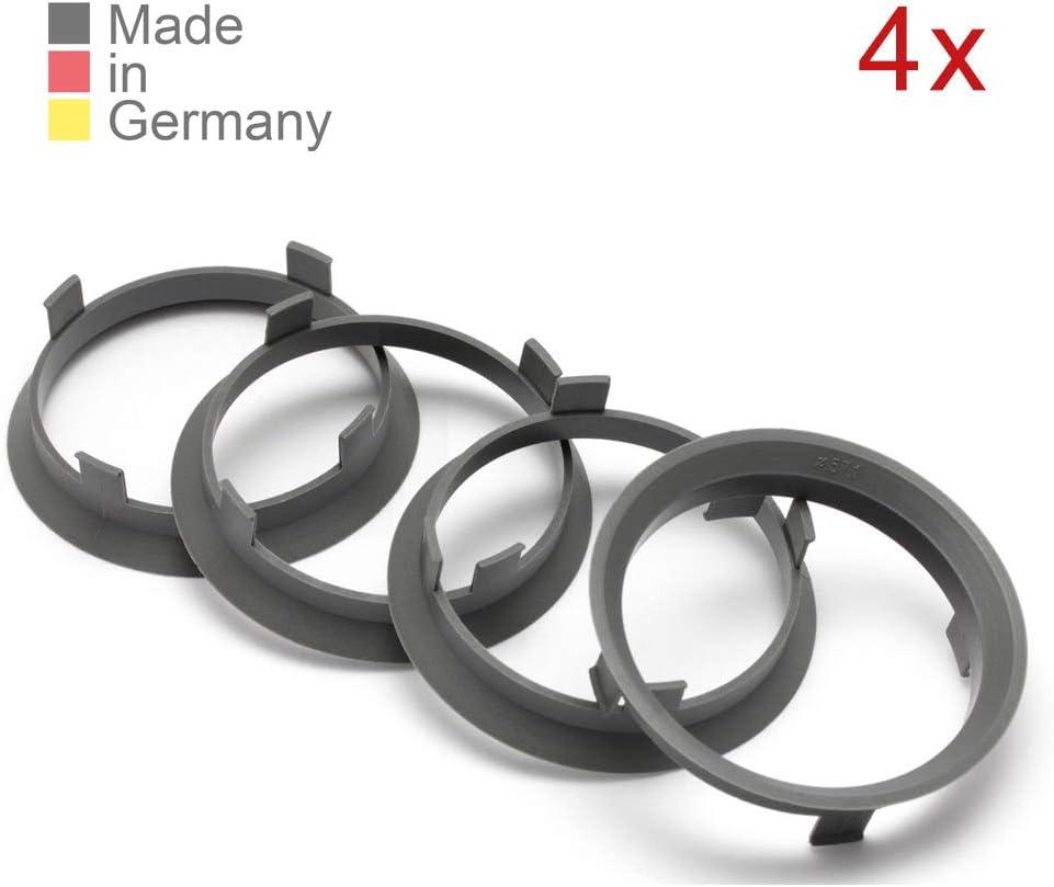 KONIKON 4X Zentrierringe 60,1 x 57,1 mm Dunkelgrau Felgen Ringe Radnaben Zentrierring Adapterring Ring Felgenring Distanzring Made in Germany