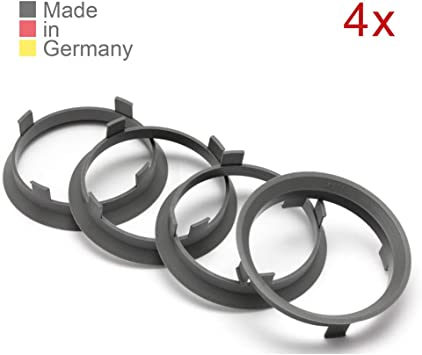 Konikon 4x Zentrierringe 60 1 X 57 1 Mm Dunkelgrau Felgen Ringe Radnaben Zentrierring Adapterring Ring Felgenring Distanzring Made In Germany Auto