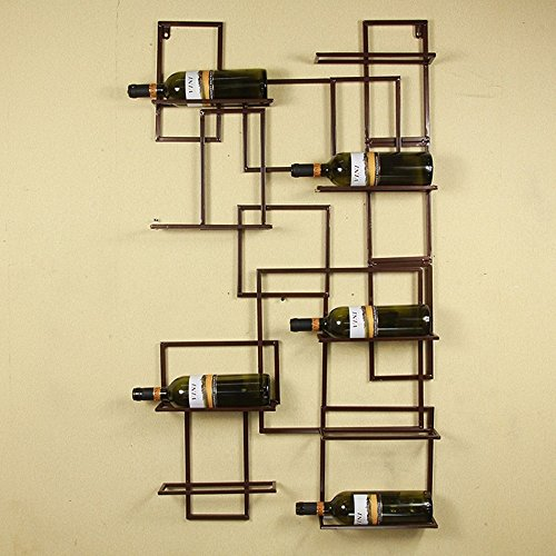 Wall Mounted Wine Holders Metal Iron Wall Wine Rack Bottle Holder Bar Displays Decoration Display Bar Home Organizer by Young Lin