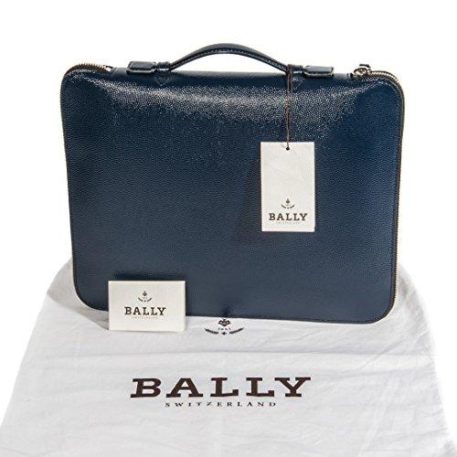 Bally Uomo Blu Scuro Borsa a tracolla Cartello in Pelle