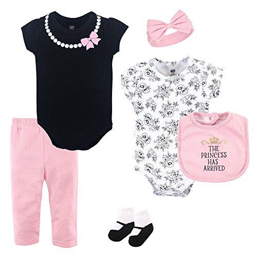 (Hudson Baby Unisex Baby Layette, Princess, 6-Piece Set, 0-3 Months (3M))