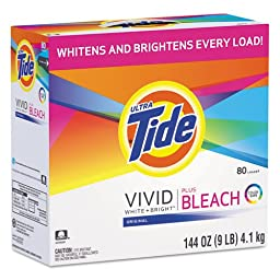 TIDE 84998 Laundry Detergent with Bleach, Original Scent, Powder, 144oz Box