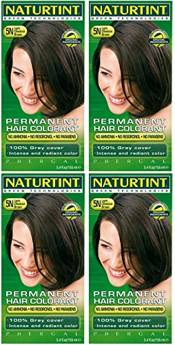 (4 PACK) - Naturtint - Hair Dye - 5N Light Chestnut Brown | 135ml | 4 PACK BUNDLE