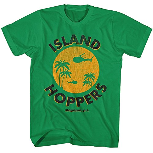 Two Hopper (Magnum Pi - Mens Island Hoppers 2 T-Shirt, Size: X-Large, Color: Kelly Green)
