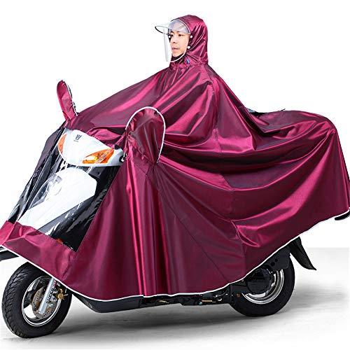 Ranura Lluvia Grande Scooter Ropa Impermeable Impermeable De Cubierta Jujube Ranuras Cloth Movilidad Oxford con Espejo Poncho Eléctrica Antiniebla Capa De Motocicleta Alargado Motorcycling De q1vxB