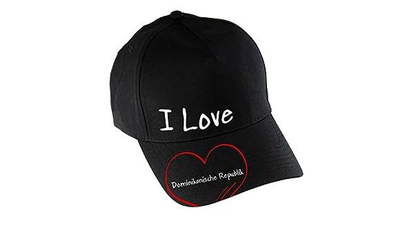 Gorra de béisbol I Love República Dominicana negro modern: Amazon ...