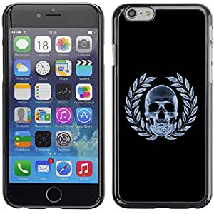 Smartphone Rígido Protección única Imagen Carcasa Funda Tapa Skin Case Para Apple Iphone 6 Plus 5.5 Skull X-Ray Goth / STRONG