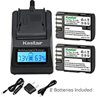 Kastar Ultra Fast Charger(3X faster) Kit and D-Li90 Battery (2-Pack) work with Pentax K-01 K-3 K-5 K-5II K-5IIs K-7 645D 645Z Cameras