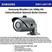 SS381 - SAMSUNG SNO-L6013R 2 MEGAPIXEL POE CCTV BULLET NETWORK IR CAMERA 1920 x 1080 RESOLUTION 3.6MM FIXED LENS WEATHERPROOF IP66 HD H.264, MJPEG