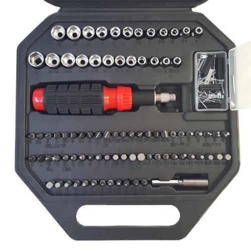 Usa Adjustable Log Rack (Universal Ratchet Driver 130-piece Ratchet Tool Set Contains Interchangeable Bits)