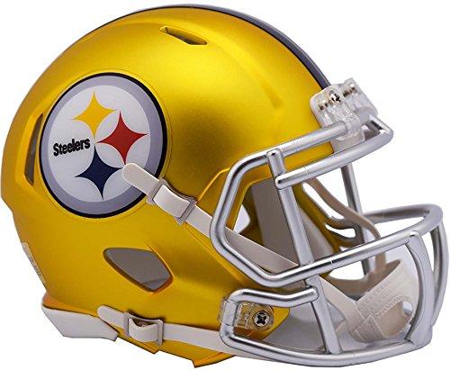 Pittsburgh Steelers Revolution - Sports Memorabilia Riddell Pittsburgh Steelers Blaze Revolution Speed Mini Football Helmet - Fanatics Authentic Certified