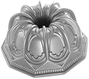 Nordic Ware Vaulted Cathedral Bundt Pan, Metallic