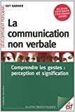 La communication non verbale : Compredre les gestes : perception et signification