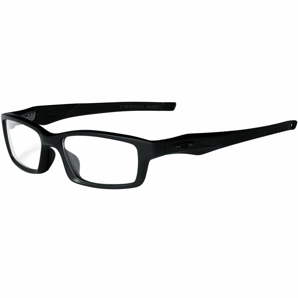 8aa73e30c2 Amazon.com  Oakley Crosslink Men s RX Prescription Frame - Satin  Black Black Size 53-17-140  Clothing